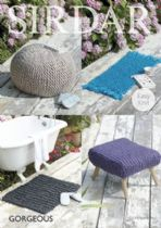 Sirdar Gorgeous - 7965 Foot Stool Covers and Rugs Knitting Pattern